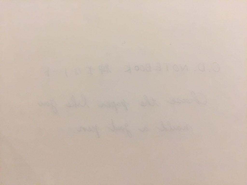 紳士なノートの裏写りチェック(裏)