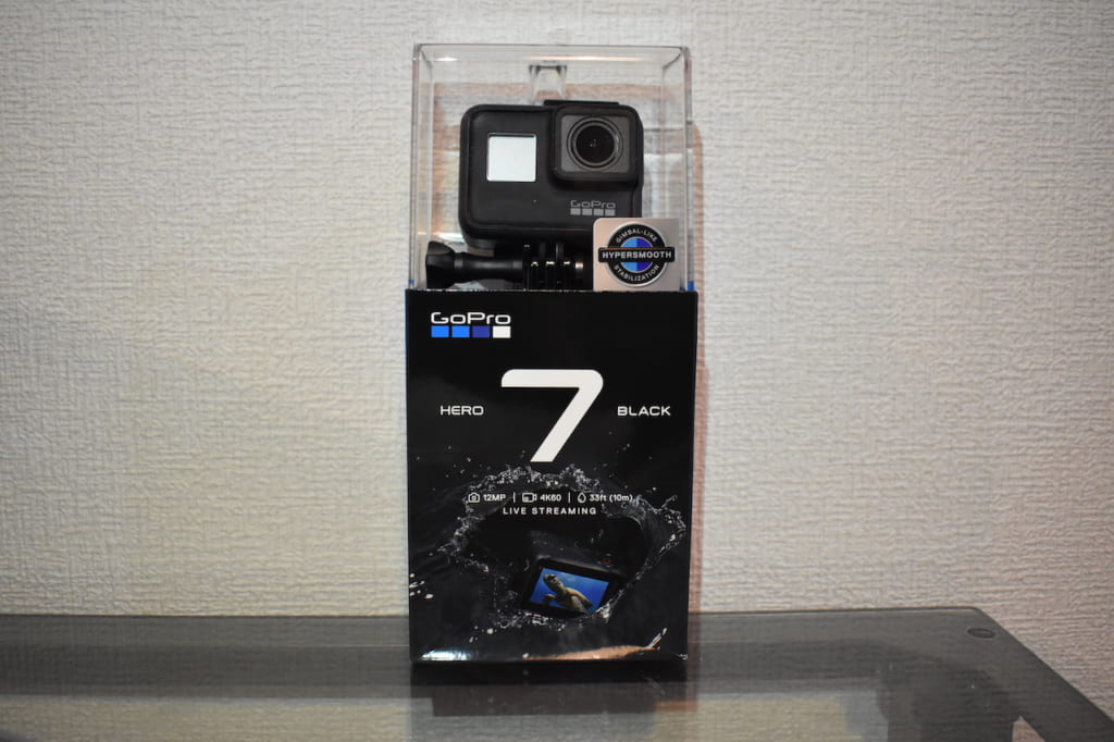 GoPro HERO7 Blackの開封前