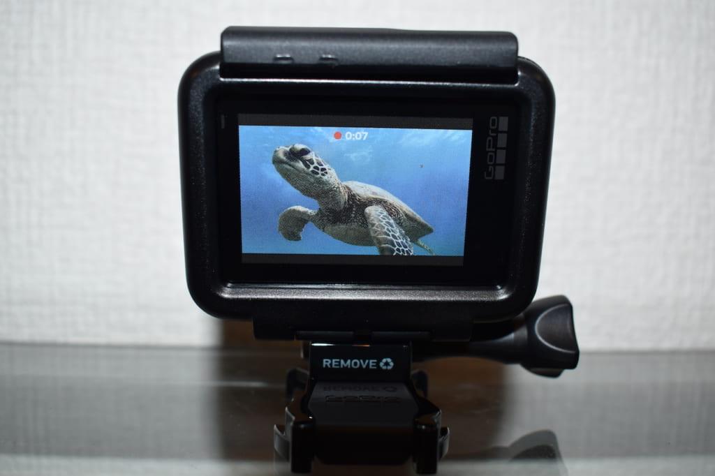 GoPro HERO7 Blackのカメラ背面スクリーン