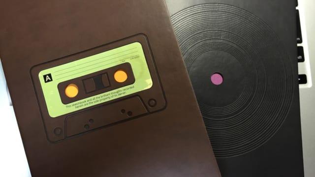 DAYCRAFTのRetro Sketchbook 無罫ノートブック