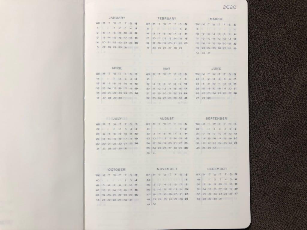ロイヒトトゥルム1917 ウィークリープランナーのネイビーカレンダー3年分02