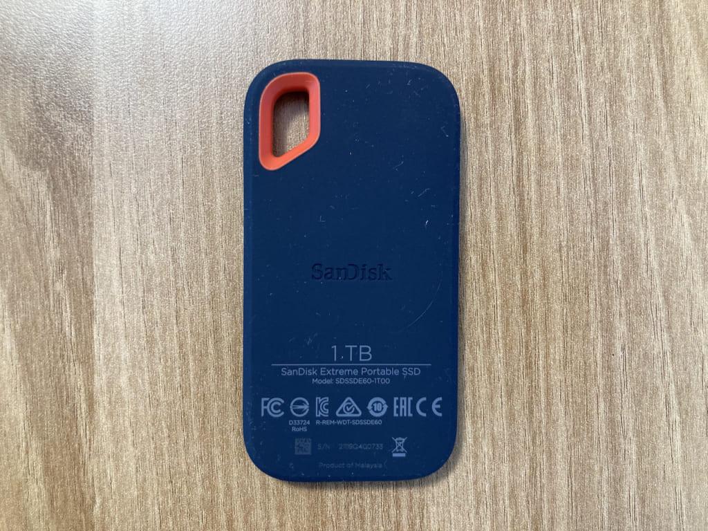 SanDisk PortableSSDの裏