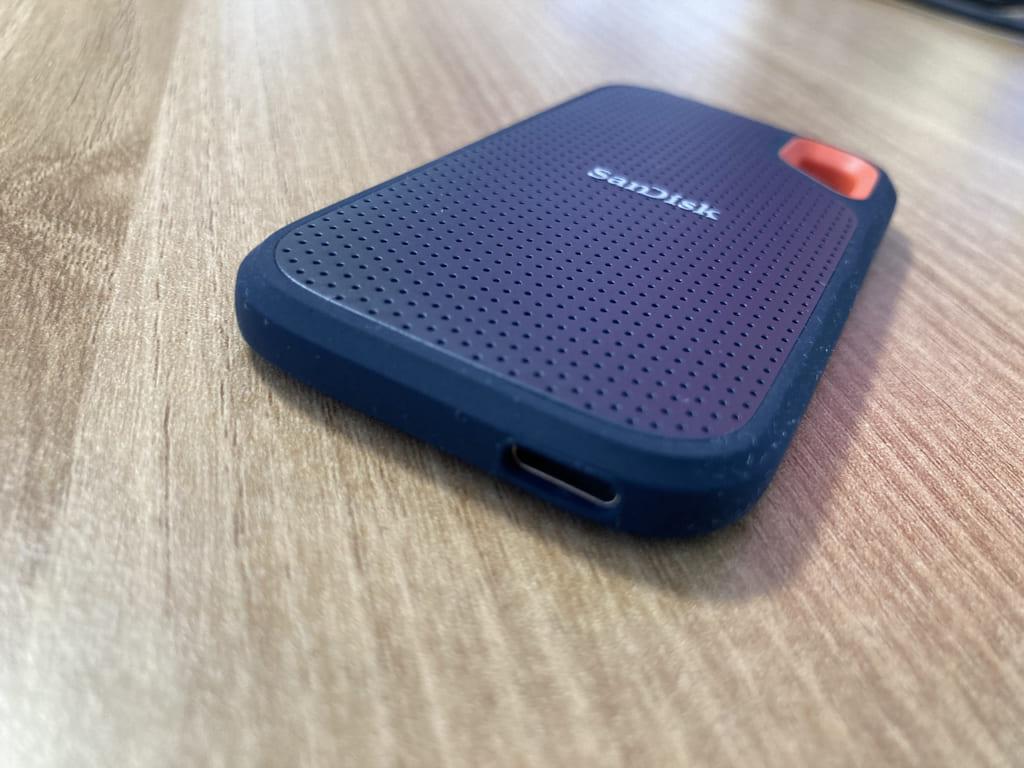 SanDisk PortableSSDの接続部分