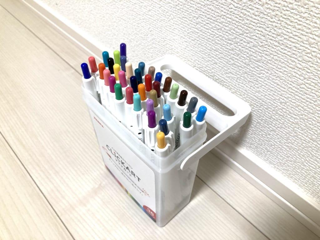 ノック式水性カラーペンのクリッカート!全36色を徹底比較レビュー