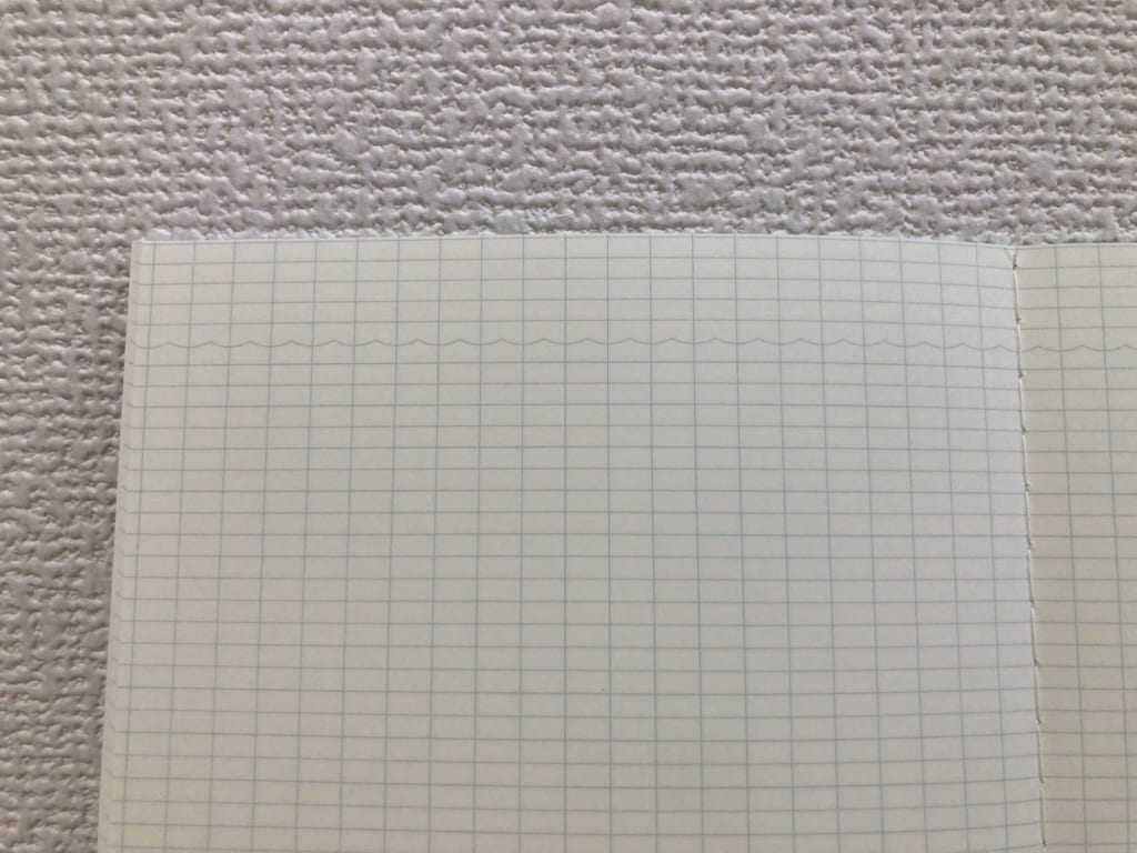 おいしい魚ノートの波罫線